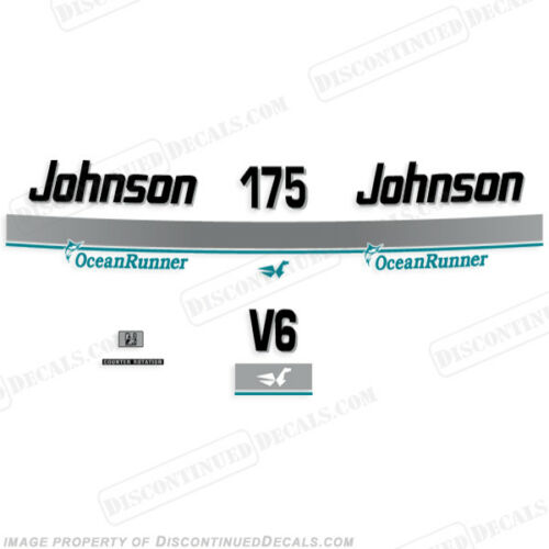 Discontinued Decal Reproductions in Stock 1996 Johnson 175 hp V6 OceanRunner