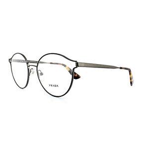 5d4c4c74c34 Prada Glasses Frames PR 62TV VHJ1O1 Black Antique Lead Womens 52mm ...