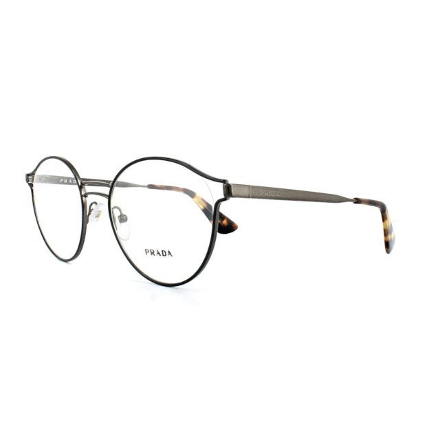 a6806bc19921 Original PRADA PR 62tv Vhj 1o1- Black Frame Round Eyeglasses 52 for ...