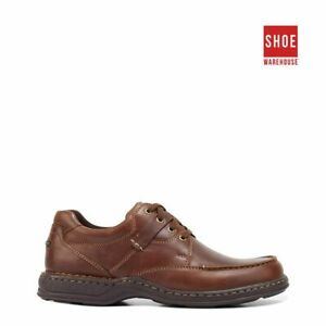 Hush Puppies RANDALL II Brown Mens Lace-up Casual Leather Shoes