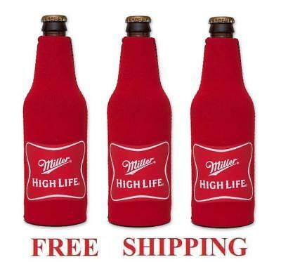 MILLER HIGH LIFE 3 BEER BOTTLE KOOZIE HUGGIE COOLIE COOZIE COOLER NEW