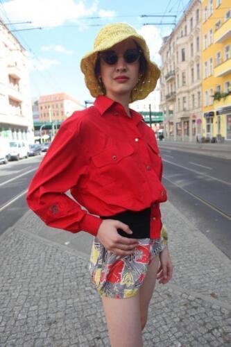 Rouge Des Ann Noir True Vintage Veste Black Blouson Blouse Kern Otto Royal 90's gPHx7