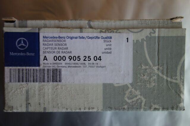 MERCEDES-BENZ ORIGINAL RADAR SENSORE totwinkel assistente a0009052504 A B CLA GLA
