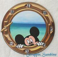 Disney Cruise Porthole W/ Mickey Printed Scrapbook Page Paper Piece - Ssffdeb