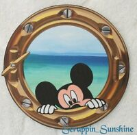 Disney Cruise Porthole W/ Mickey Printed Scrapbook Page Paper Piece - Ssffdeb