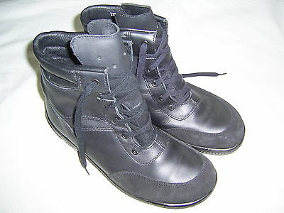 Bundeswehr Bordschuhe-Winter-, gefüttert, Segelschuh Marine Leder Schuhe