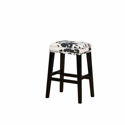 Fantastic Linon Walt Black Cow Print Bar Stool 753793197906 Ebay Gmtry Best Dining Table And Chair Ideas Images Gmtryco
