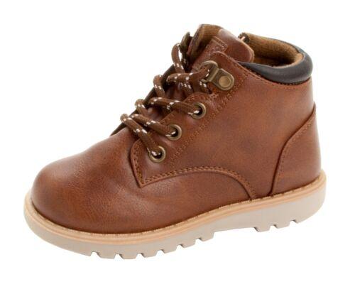 Garçons Marron Clair À Lacets Hi Top Zip Désert Marche Bottes Chaussures Enfants Taille UK 9-2