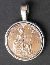 1927 90th birthday lucky Britannia Farthing Pendant present + free gift box coin