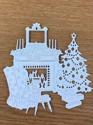Tattered Lace Art Deco Home For Christmas Die Cuts X 2