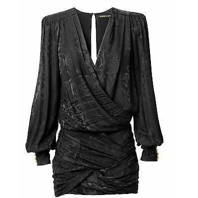 Original BALMAIN x H&M Seiden Kleid, schwarz, Größe 34, NEU!