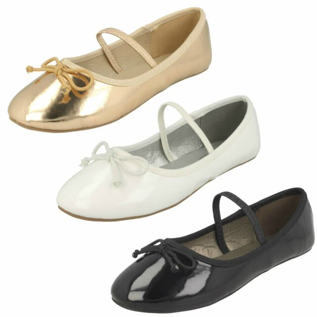 Cutie H2R229 Girls Beige or Orange Canvas Ballerina Shoes R13A