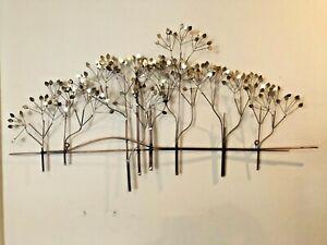Mid-Century-Modern-C-Jere-Mixed-Metal-Elm-Tree-Wall-Sculpture-Art-Modernist