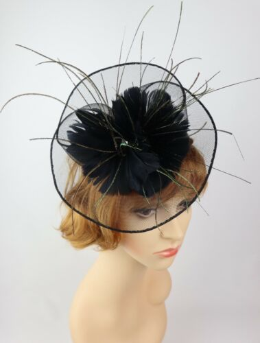Women/'s Fashion Fascinators Spring Races Melbourne Cup Mesh and Feather Flower