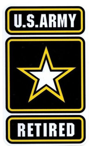 US Army Retired Window Decals Vinyl Stickers Military Emblem Outdoor Durable
