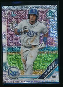 WANDER-FRANCO-2019-1st-Bowman-Chrome-Mega-Box-MOJO-REFRACTOR-Rays-Rookie-RC-QTY