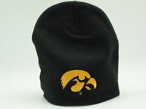 Iowa Hawkeyes Youth Adidas Knit Beanie Hat Boys 8-20 One Size Fits Most New
