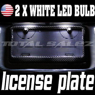 2 X WHITE LED LICENSE PLATE TAG LIGHT BULB KIT T10 158 161 168 194 X3