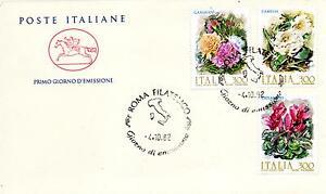 Repubblica-Italiana-1982-FDC-Cavallino-Fiori-d-039-Italia-Datario-Errato