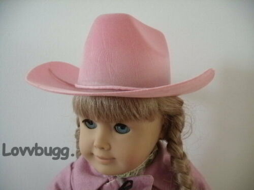 Pink Cowboy Hat for American Girl Doll Clothes Riding /& Baby Western Accessory