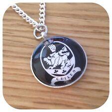 Twilight family crest Black MINI pendant necklace