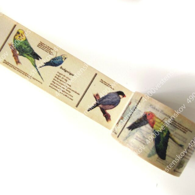 mt made in japan ex vintage style bird diagram washi masking tape 30mm x 10m