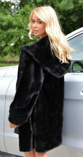 Damen Winter Mantel Kunstfell Pelz Jacke Felljacke Kapuzenjacke Teddyjacke Warm