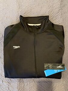 Mens-Speedo-Jacket-XXL-SWIM-WARMUP-NEW-Tags-Attached-NWT-100-Polyester
