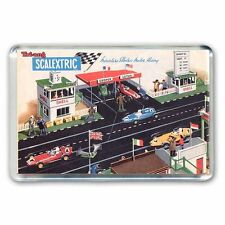 RETRO SCALEXTRIC VINTAGE PITS SCENE ARTWORK-JUMBO FRIDGE / LOCKER MAGNET