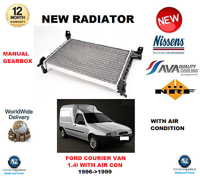 New Radiator Ford Courier 1.3 91-02 Fiesta MK3 1.0 1.1 1.3 89-97