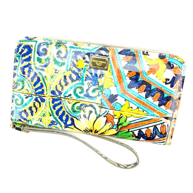 Dolce&Gabbana Wallet Purse Long Wallet Woman Authentic Used G675