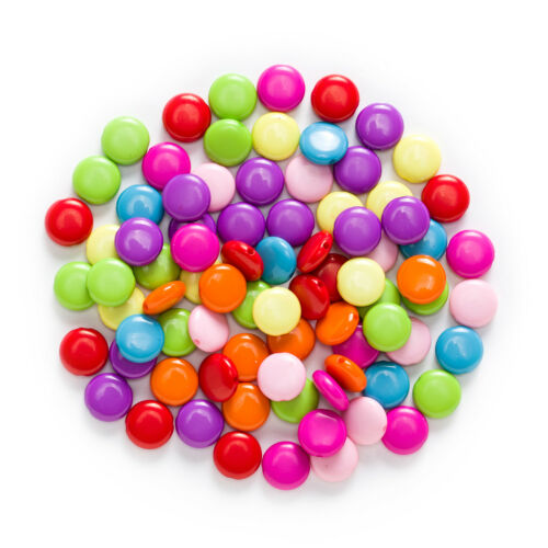 Multicolor Random Mixed Acrylic Spacer Oblate Beads Jewelry Making 12-16mm