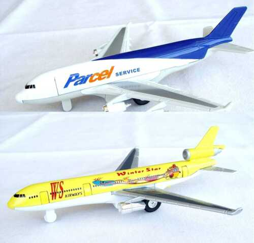 Flugzeugmodell Flugzeug Modell Spritzguss Rückzugmotor Neu