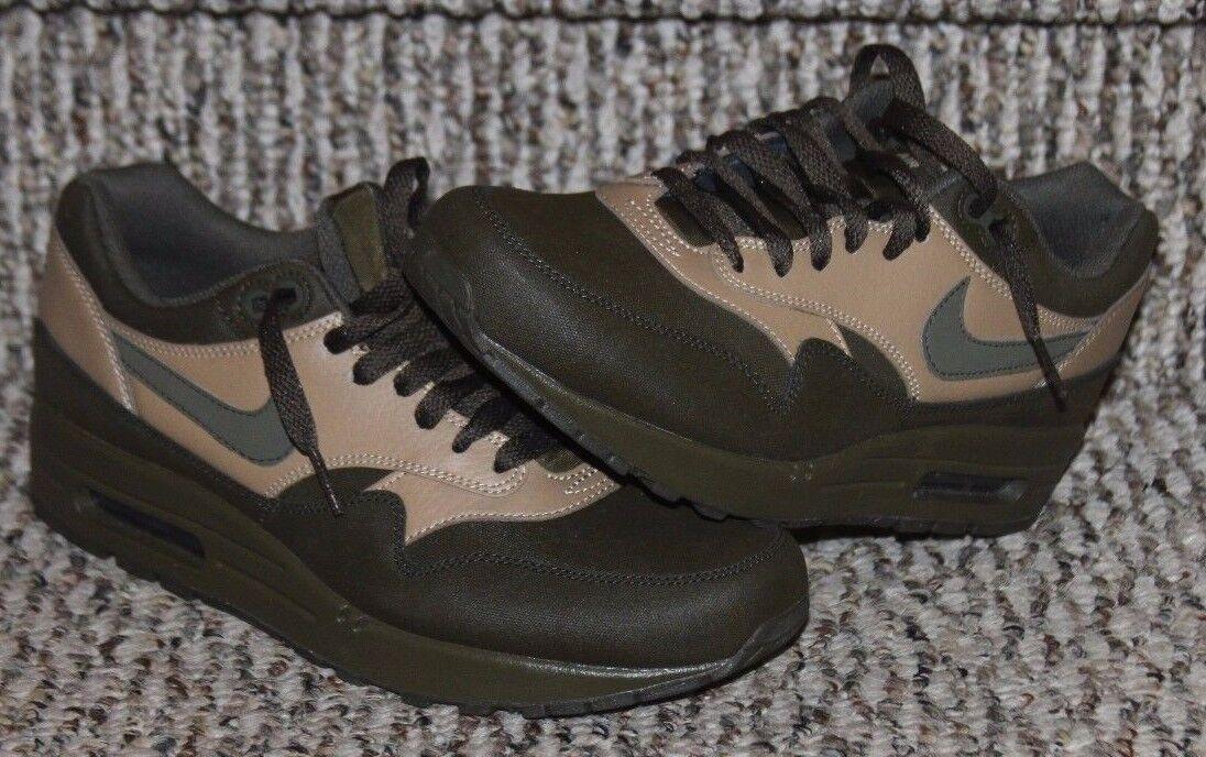 Nike Air Max 1 Leather Premium Mens sz 7.5 705282-300 Loden Green Running   M198