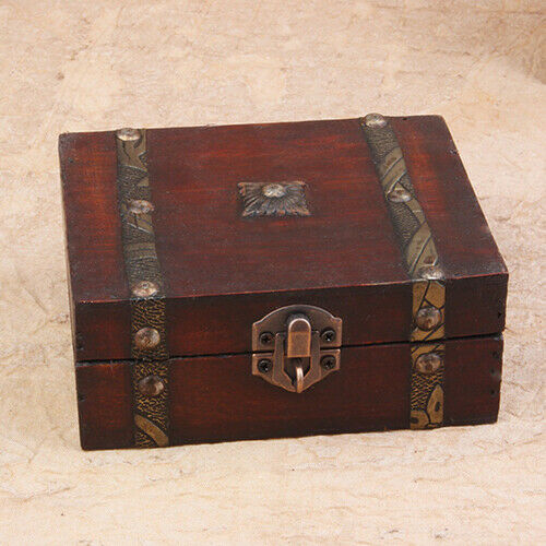 BG_ Modern Jewelry Necklace Bracelet Storage Organizer Wooden Case Gift Box Litt