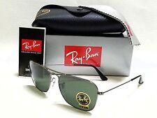 Authentic RAY-BAN Caravan RB3136 004 Gunmetal/Green G15  58mm Sunglasses
