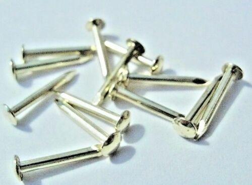 "200 Escutcheon Pins Brass 3//8/"" 10mm Top Quality Challenge Brand 100 1000 500"