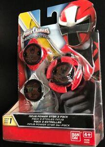 Bandai Power Rangers Ninja Steel Series 1 Power Star 3 Pack 43751 Red,Red,White