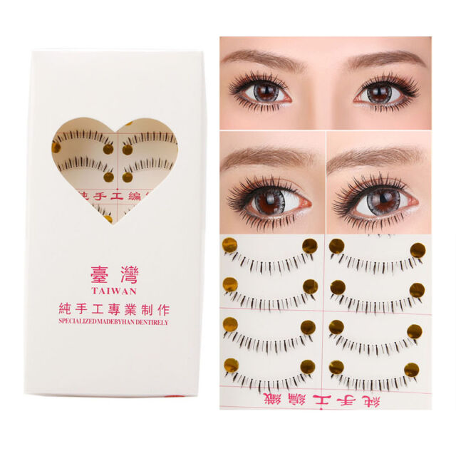 14c8d8fecb2 Handmade 10 Pairs Natural Lower Under Bottom Fake False Eyelashes Eye Lashes
