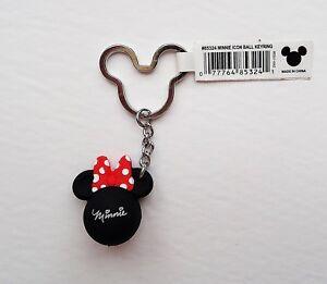 Disney - Minnie Mouse Head Icon Ball - Minnie Red Bow - Keychain ... 0c0db1f5d421