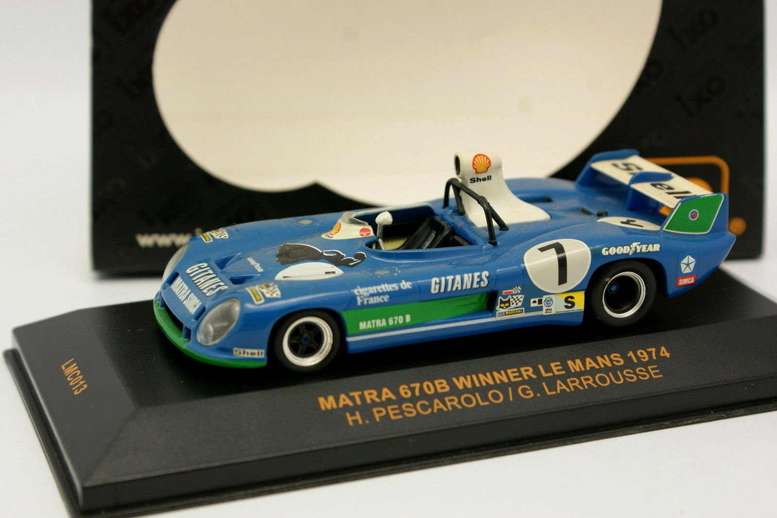 Ixo 1 43 - Matra Simca 670B Gitanes Winner Le Mans 1974