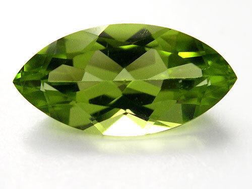 Un par de 6x3mm Marquesa-faceta Fuerte-Verde Natural Peridoto Afgano Piedras Preciosas