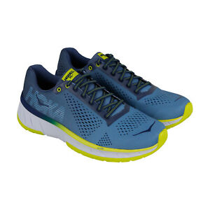 Hoka-One-One-Cavu-1019281-Mens-Blue-Canvas-Low-Top-Athletic-Gym-Running-Shoes