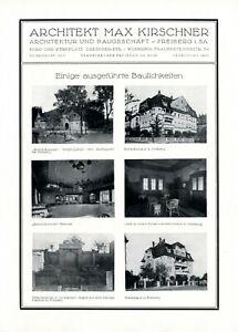 Architecte Kirschner Dans Freiberg Xl Publicité 1926 Publicité 2 Pages 10 Figures-afficher Le Titre D'origine Gw2h6eaf-10114716-258698093