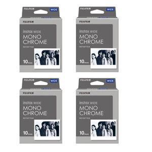 40 Prints Fujifilm Instax Wide Monochrome B&W Instant Film for 300 210 Camera 695641734584