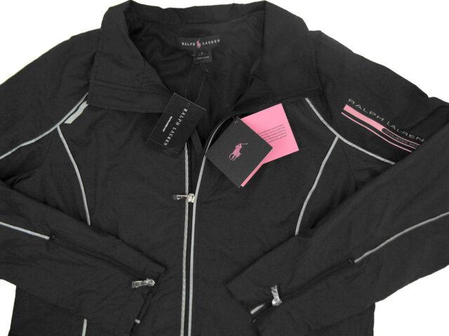 Polo Ralph Lauren Womens Pink Pony Windbreaker Jacket L  black  for ... 63993335b