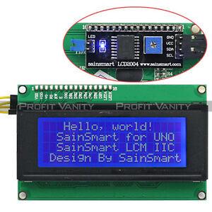 SainSmart-2004-I2C-Serial-Blau-LCD-Module-IIC-I2C-TWI-Shield-fuer-Arduino-DE-SHIP
