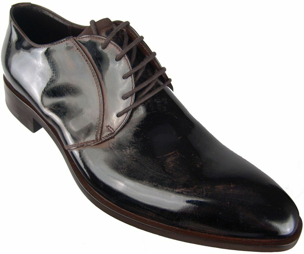 Authentic  790 Cesare Paciotti US 8 Brown Oxfords Italian Designer shoes