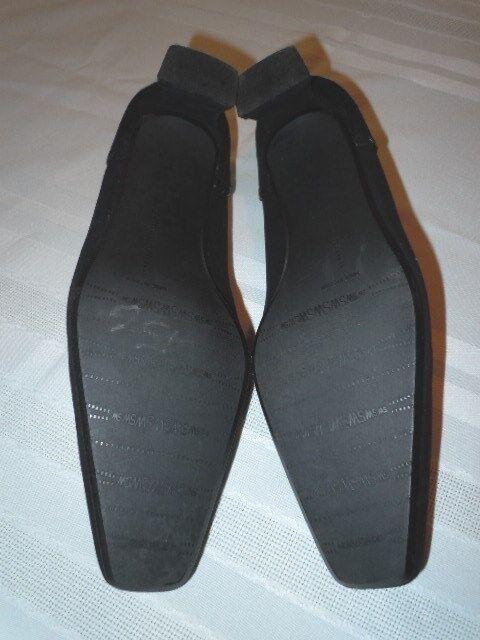 STUART WEITZMAN BEAUTIFUL BLACK B, SUEDE HAND-LACED PUMPS HEELS, 7 B, BLACK FLAWLESS 7b525c