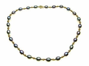 Grey-freshwater-pearl-necklace-alternating-with-9ct-Gold-beads